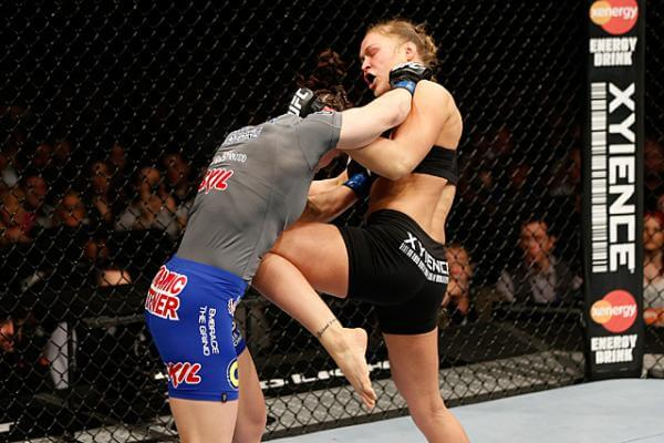 Ronda goes for the breadbasket!