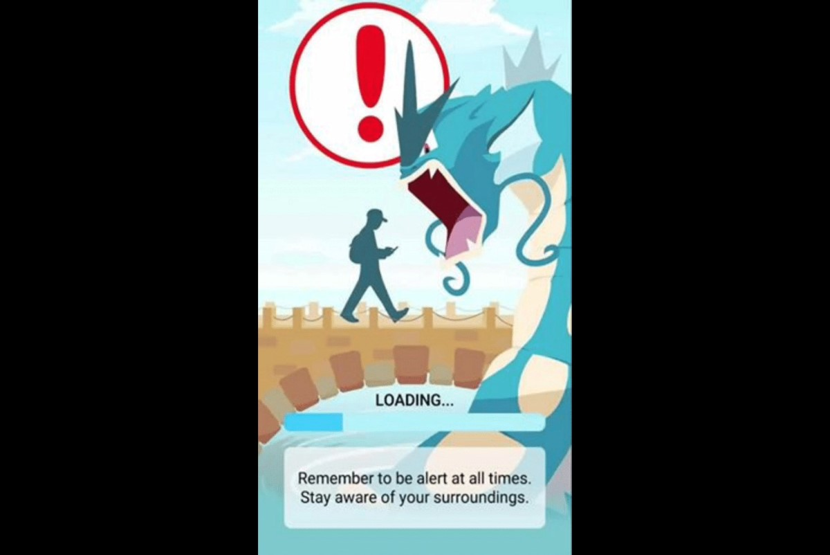 Pokémon GO Warns You To Be Aware Of Your Surroundings