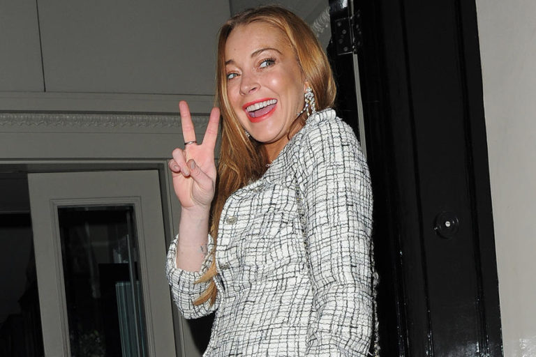 Lindsay Lohan attends Damiani - party at Morton's