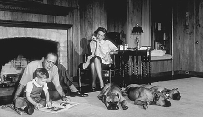 bacall-family-at-home