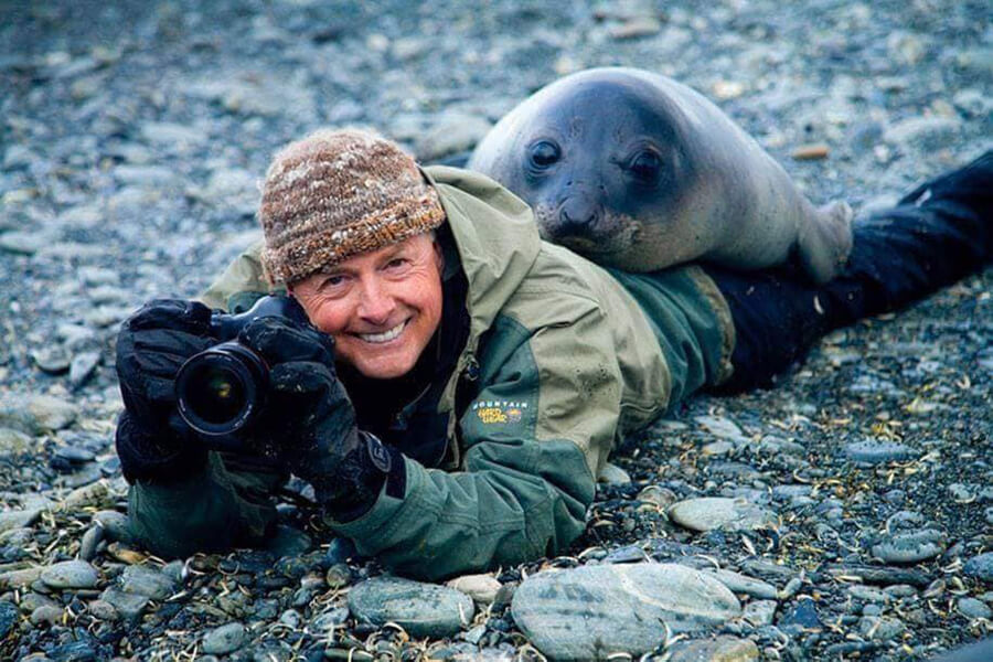 seal doesn't want its picture taken