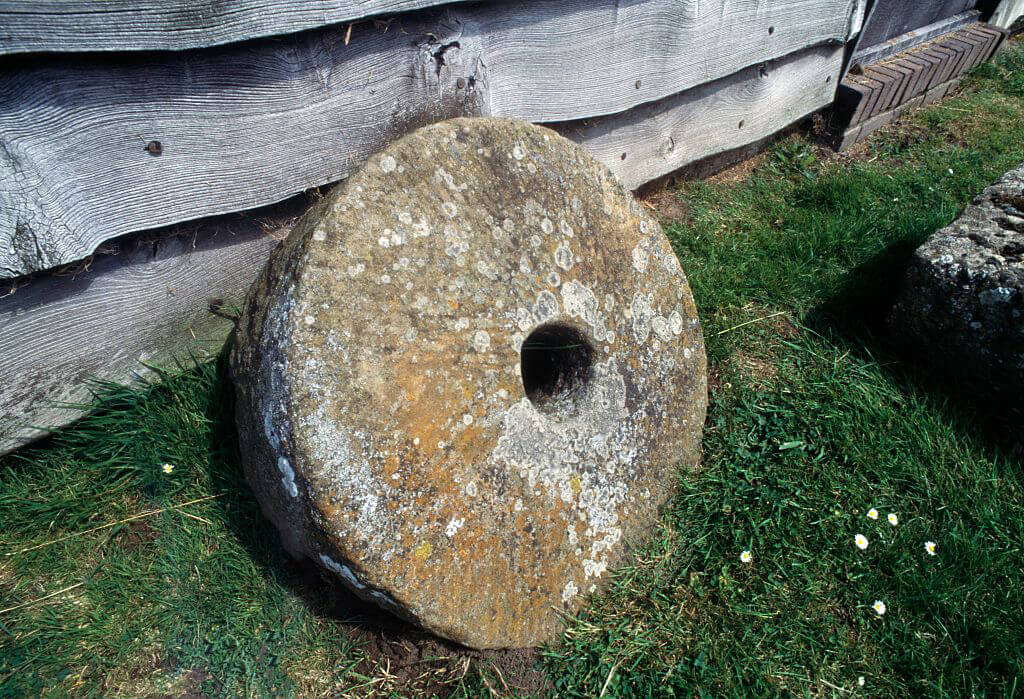 Millstone, Richborough Roman Fort, Kent, England