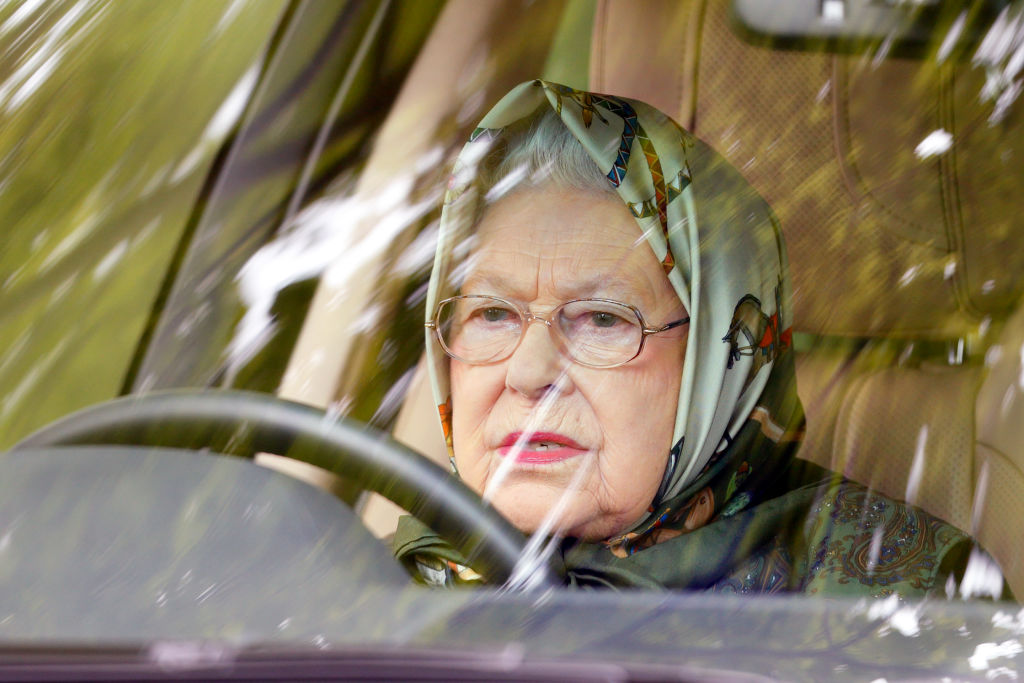 Queen Elizabeth Drives Without A License
