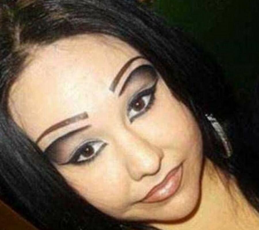 triple eye brows