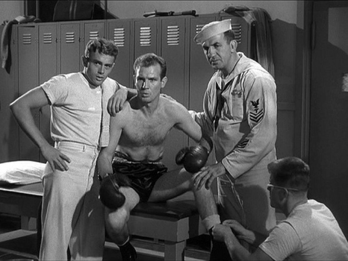 james dean in a locker room scene