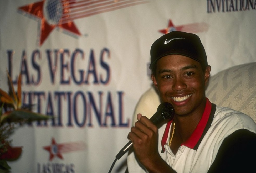 tiger woods first year of golf