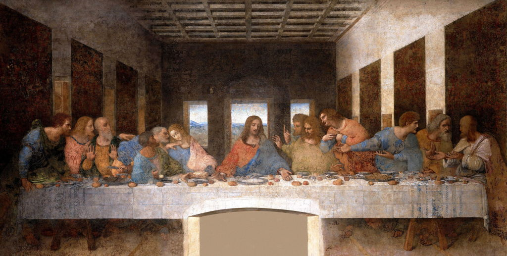 The Last Supper, 15th century mural painting in Milan created by Leonardo da Vinci
