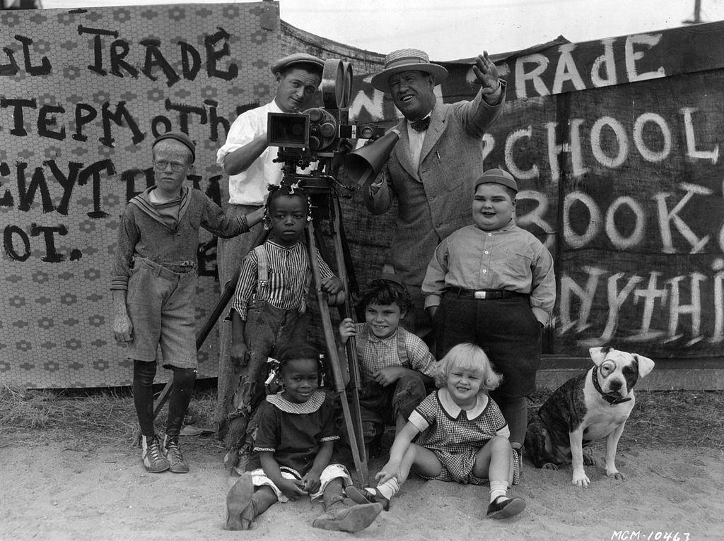 the little rascals standing with film director robert mcgowan