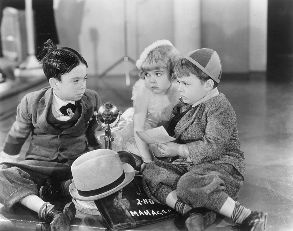 alfalfa sitting with spanky in the pinch singer