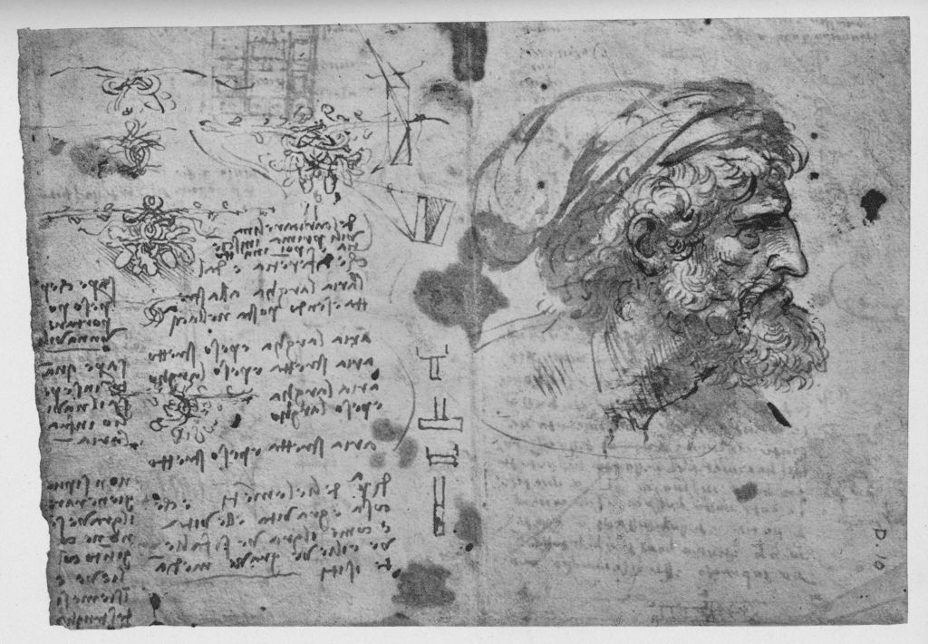 Head and Shoulders of a Bearded Man', c1480 (1945). From The Drawings of Leonardo da Vinci.