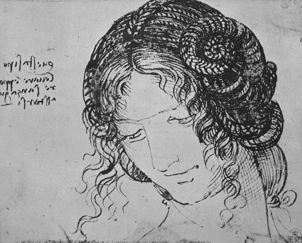 Study of a Woman's Braided Hair', c1480 (1945). From The Drawings of Leonardo da Vinci.