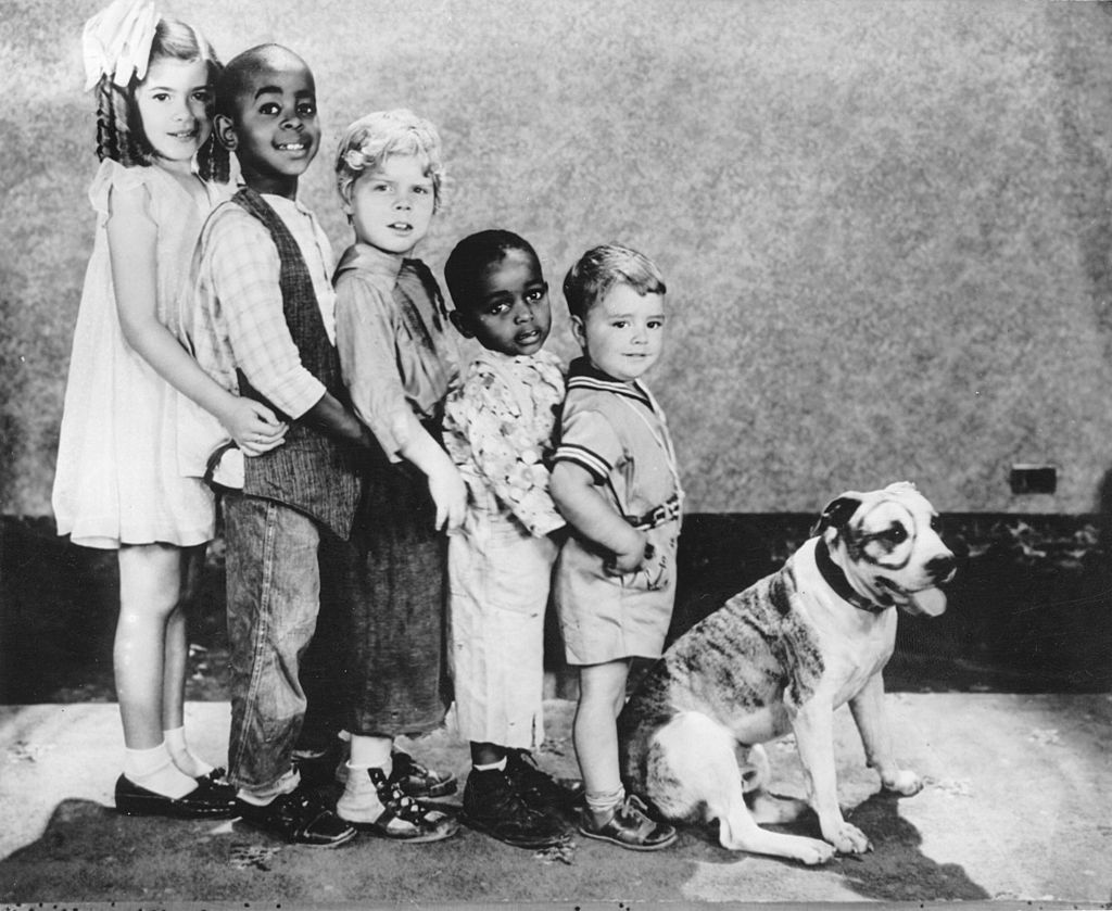 the little rascals in a line from tallest to shortest