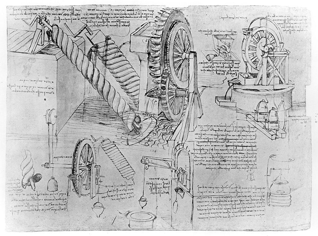 Sketch taken from a notebook by Leonardo Da Vinci (1452-1519)
