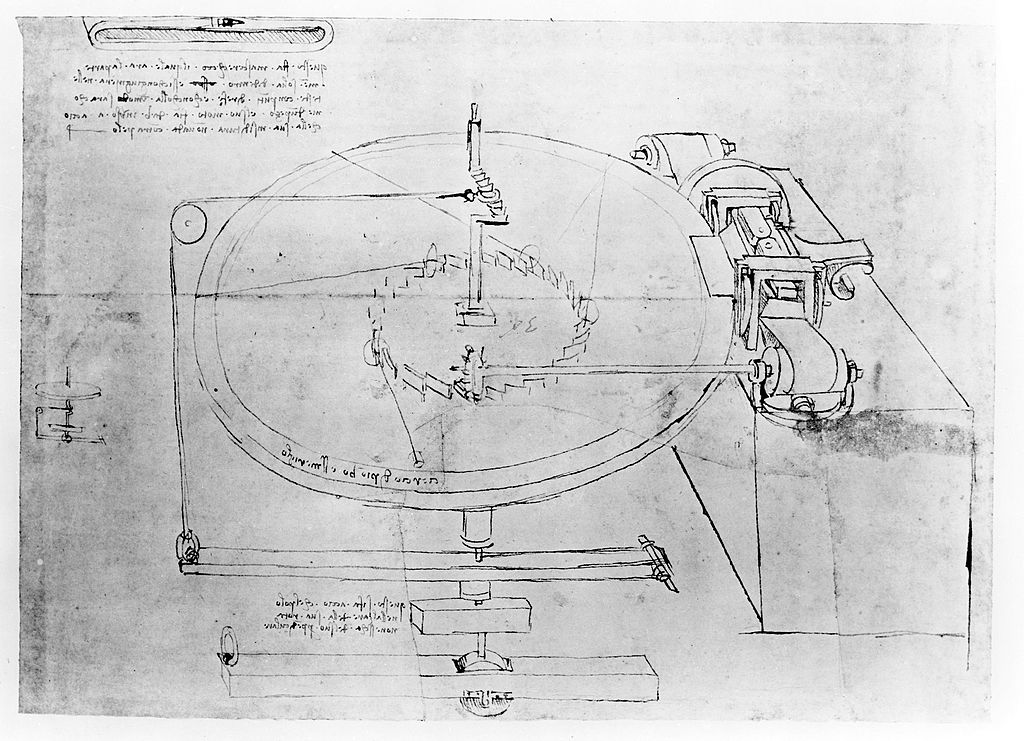 Sketch taken from a notebook by Leonardo Da Vinci