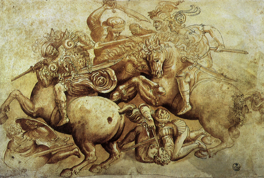 The Battle of Anghiari 1500, Leonardo da Vinci, 1500