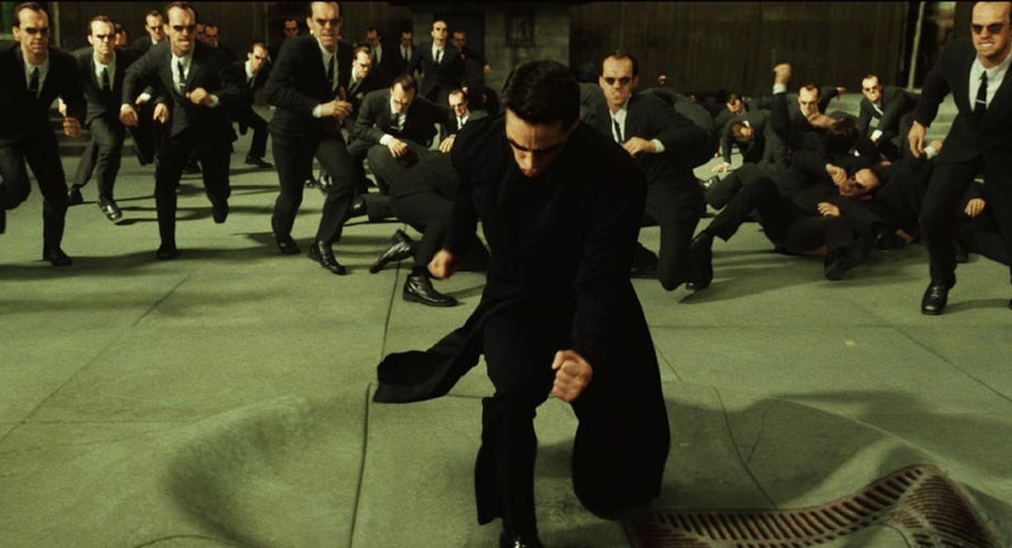 Neo and Agent Smiths took 27 days to film