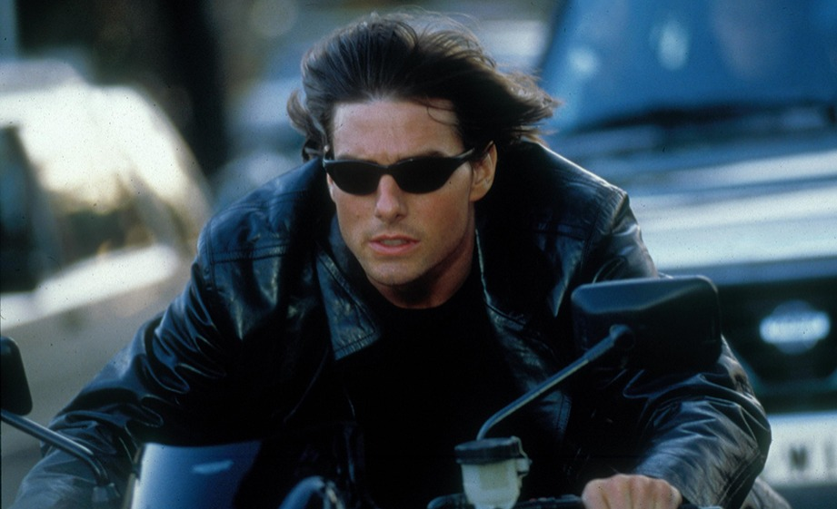 Tom Cruise rides motorcycle in Mission Impossible with his special thong