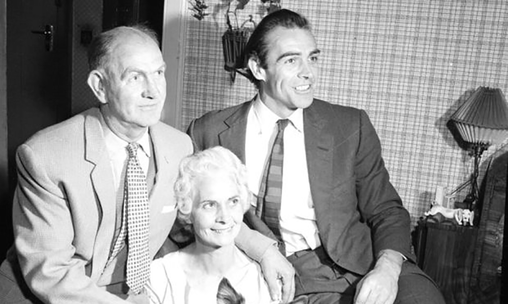 Connery with his parents