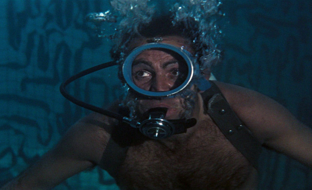 Connery as James Bond underwater