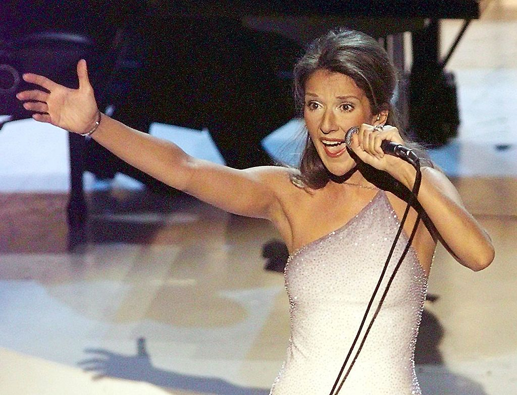 Celine Dion performs the song