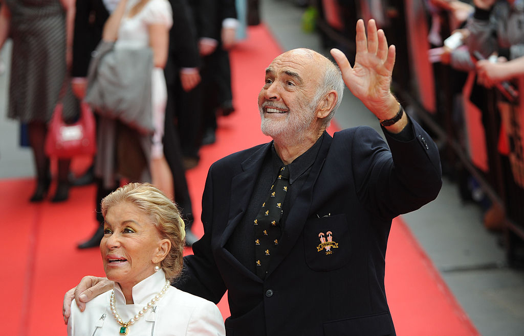 Connery's on the red carpet with his wife