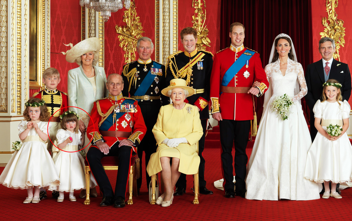 official portrait for prince william and kate middleton's wedding.