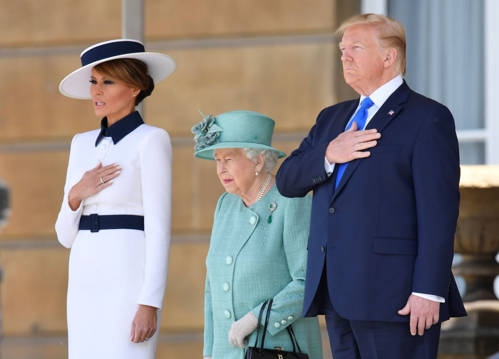 donald trump and queen elizabeth 2019 visit