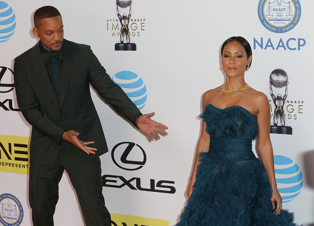 Actors Will Smith (L) and Jada Pinkett Smith attend the 47th NAACP Image Awards-508639614
