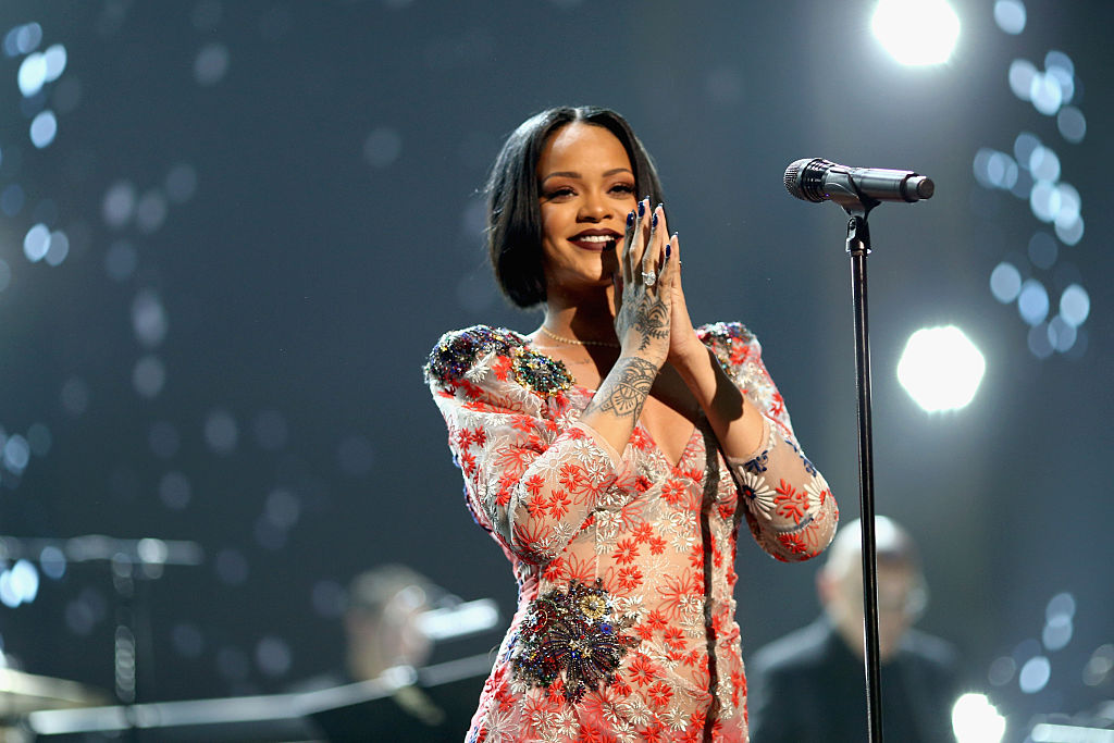 Rihanna performs onstage during the 2016 MusiCares Person of the Year honoring Lionel Richie