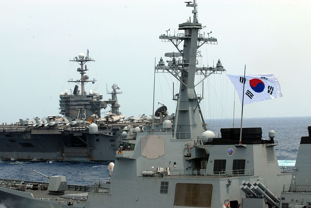 the Republic of Korea navy destroyer ROKS Sejong the Great DDG 991