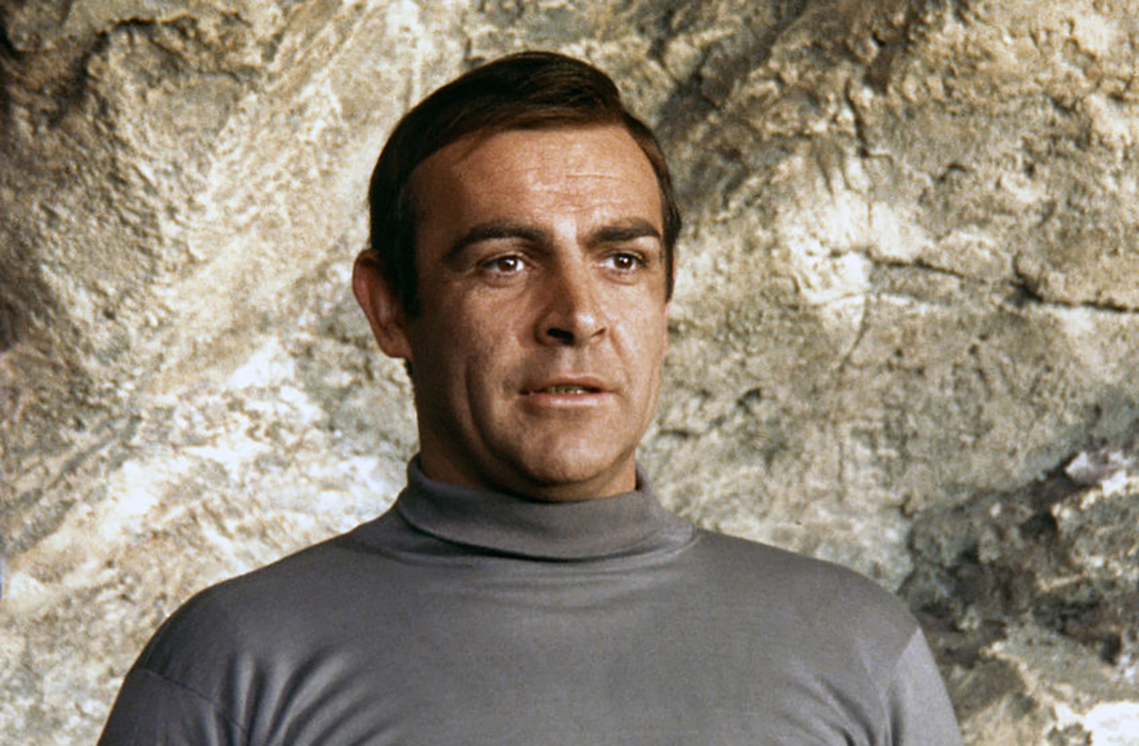 Close up of Connery on the set of You Only Live Twice