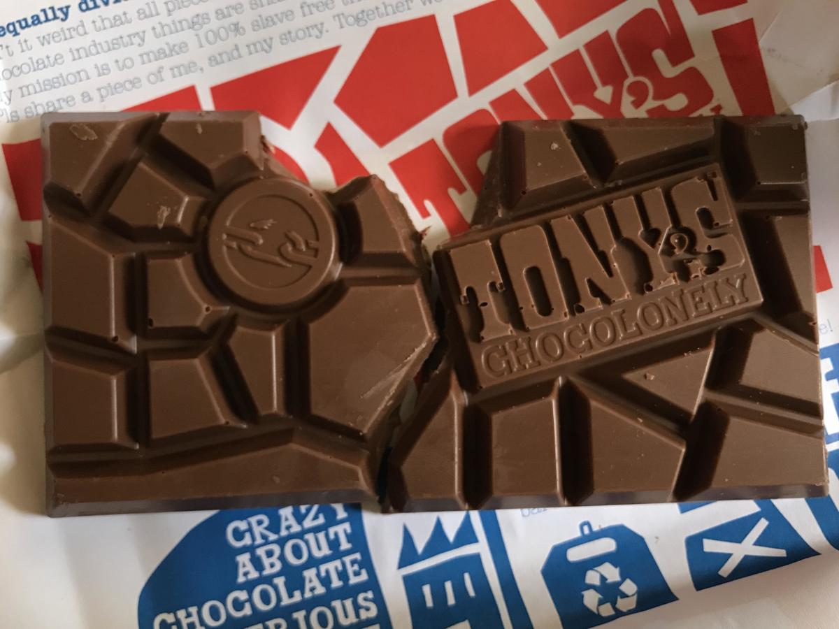 Tony's Chocolonely uneven chocolate bar