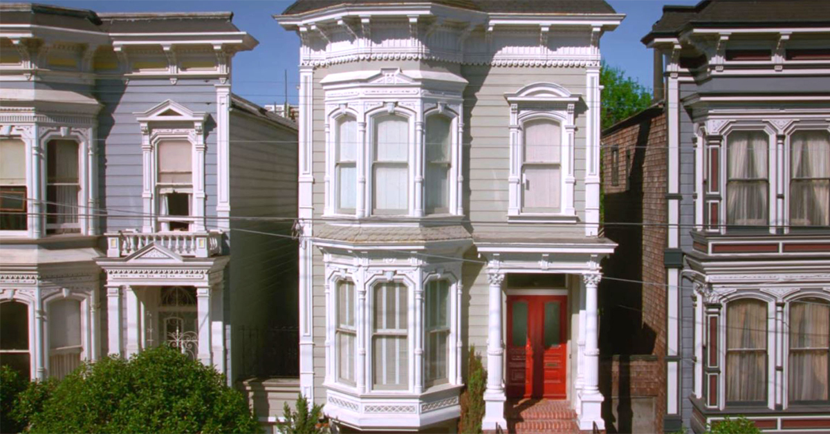 exterior shot of the house on full house