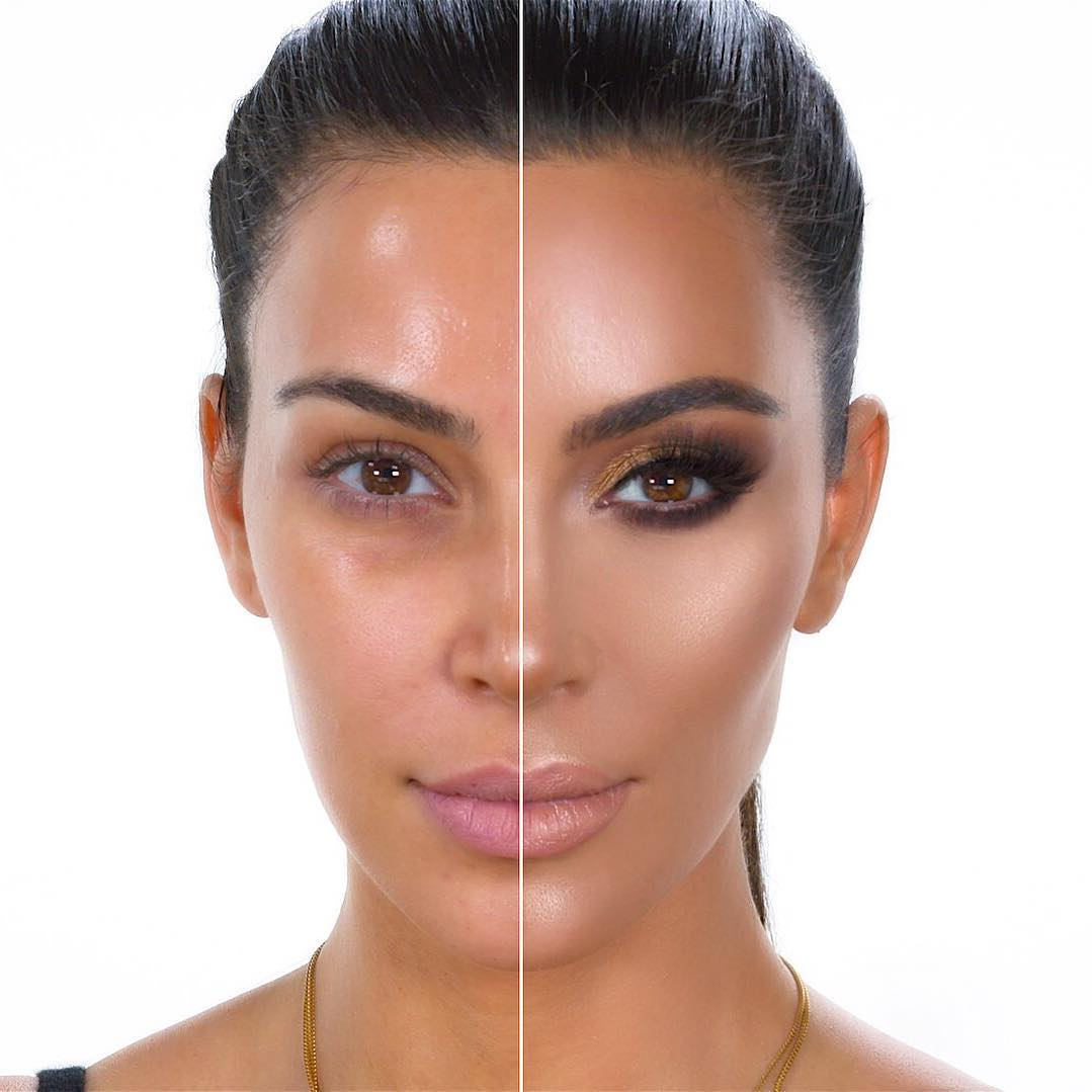 kim k before and after