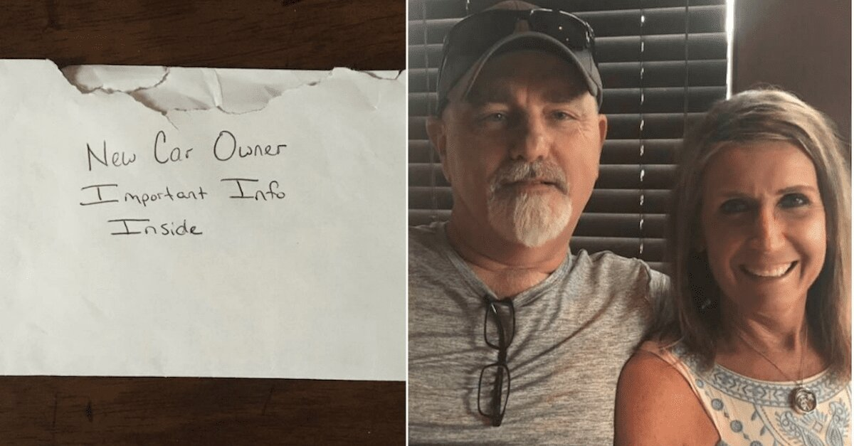 kevin duke found a letter to the new car owner