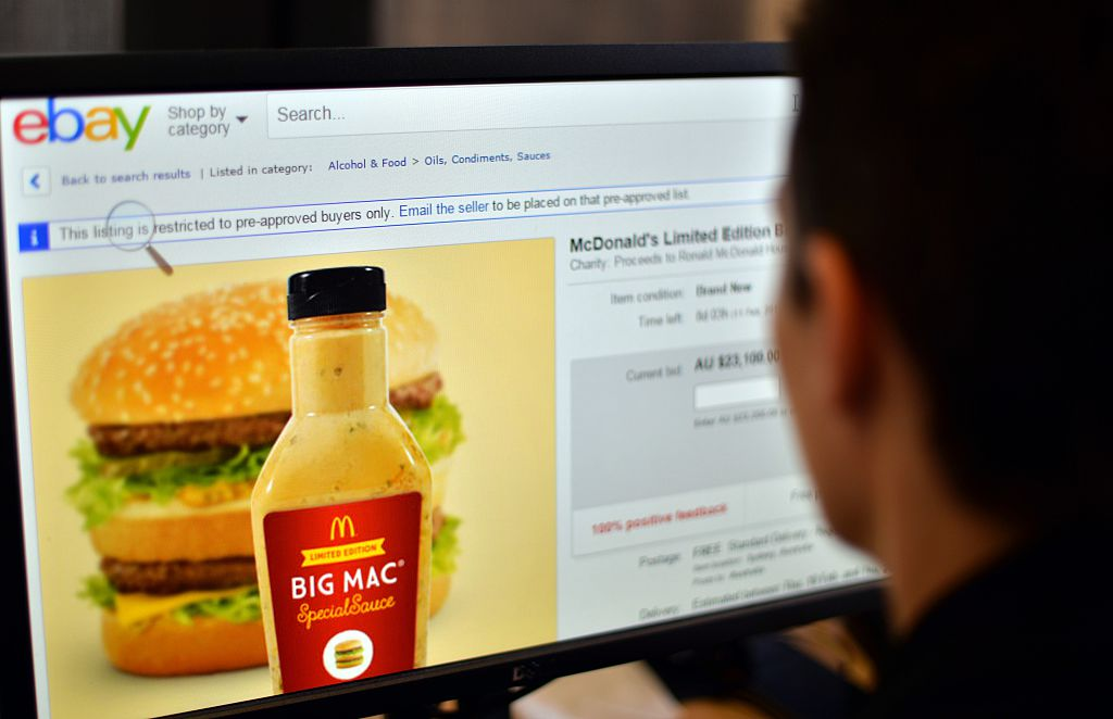 special big mac sauce on auction