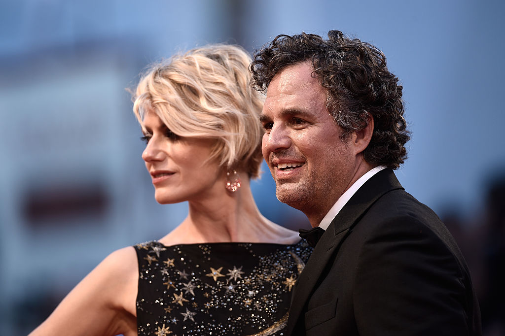 GettyImages-486342186 Actor Mark Ruffalo and Sunrise Coigney attend the premiere of 'Spotlight' during the 72nd Venice Film Festival