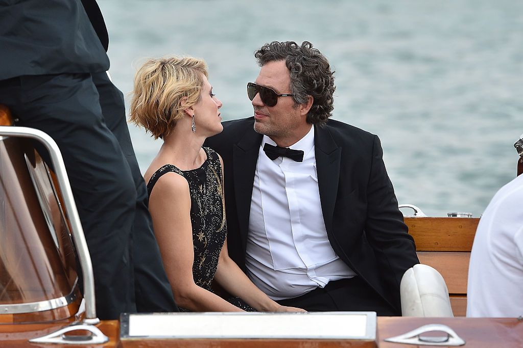 GettyImages-486345454 Actor Mark Ruffalo and Sunrise Coigney are seen during the 72nd Venice Film Festival