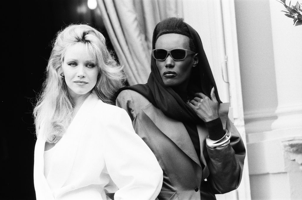 Photo-call, A View to a Kill, new James Bond film, starring actresses Grace Jones and Tanya Roberts-639319822