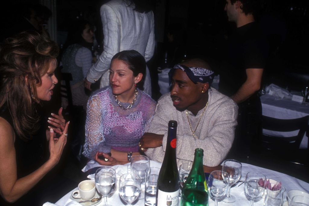 Raquel Welch, Madonna and Tupac Shakur at the Interview Magazine party-649551984
