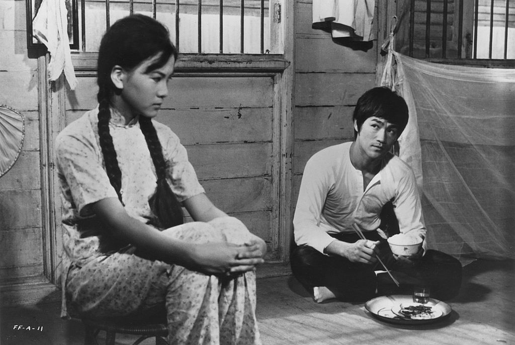 Bruce Lee and Maria Yi in a scene from the Kung Fu classic Fists Of Fury in 1971  -77449056