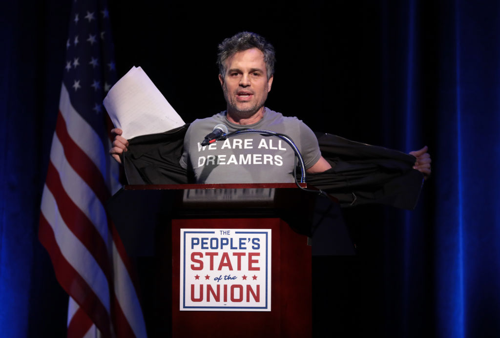 GettyImages-911941820 Mark Ruffalo speaks onstage at The People's State Of The Union at Townhall