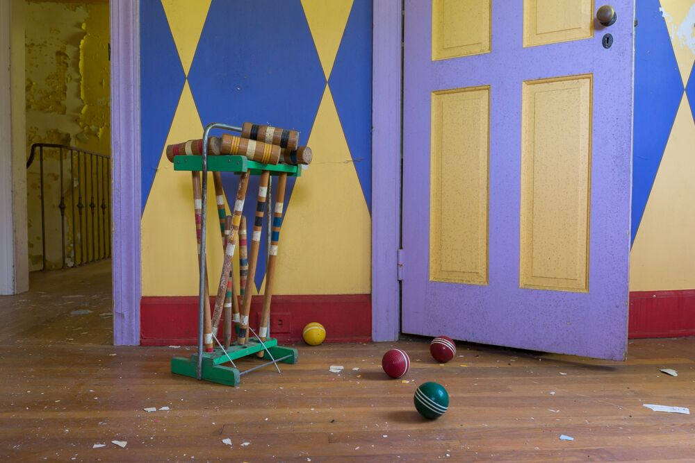 croquet supplies at the circus house