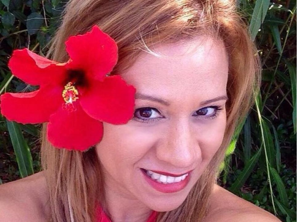 Veronica Castillo with a flower in her hair