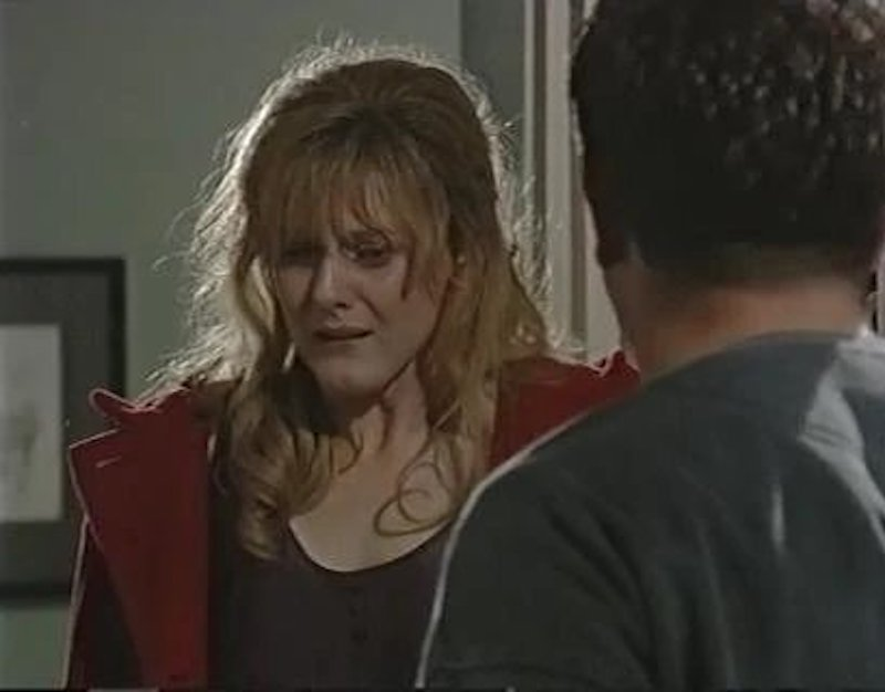 coronation street scene blonde lady crying