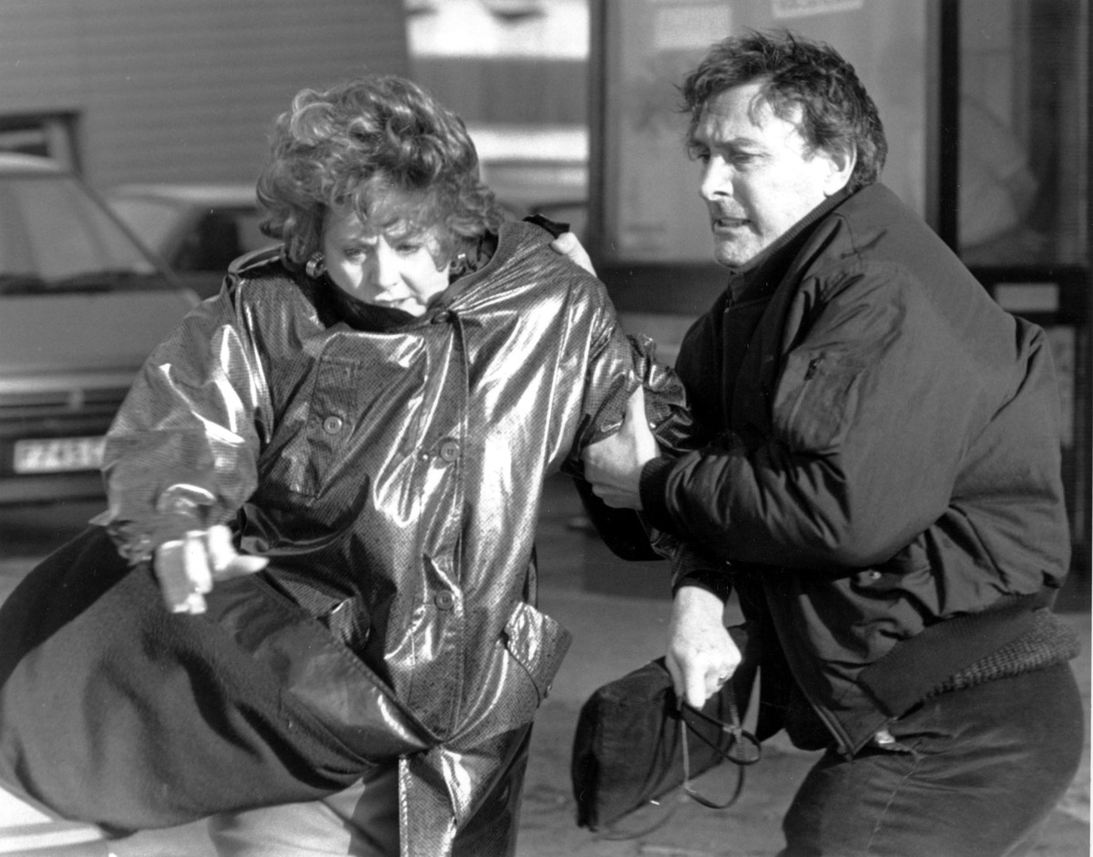 coronation street black and white scene  MARK EDEN, BARBARA KNOX