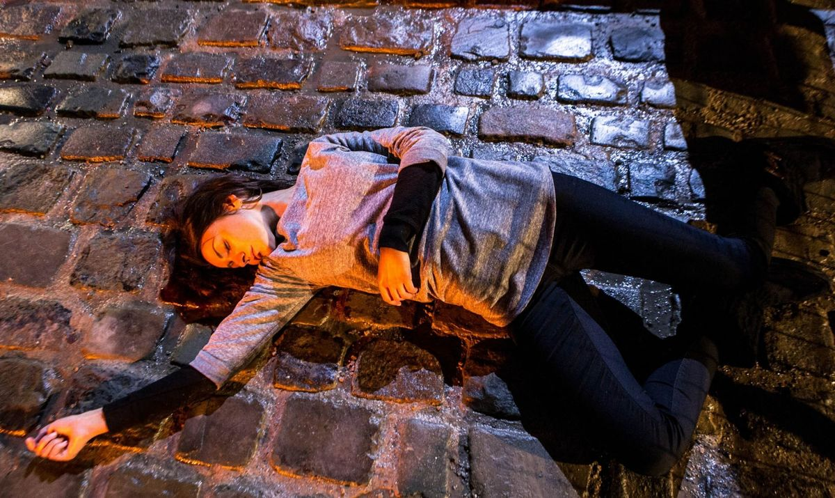 coronation street scene michelle keegan on ground