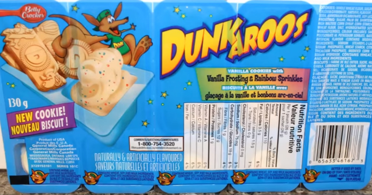the front of a package of dunkaroos
