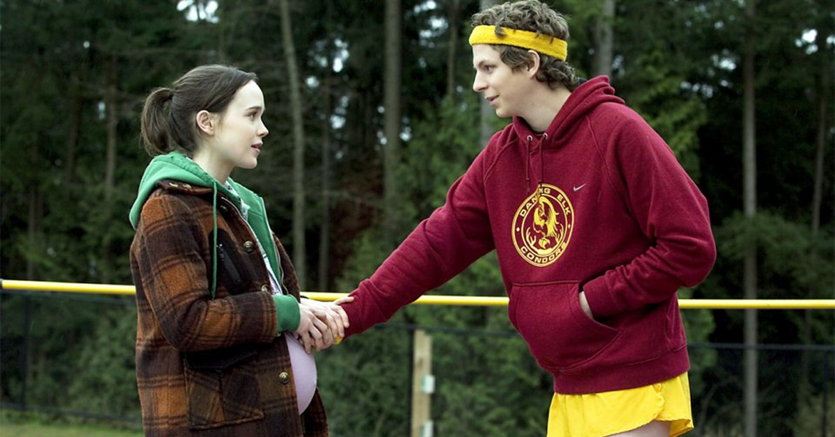 michael cera touching ellen page's stomach in juno