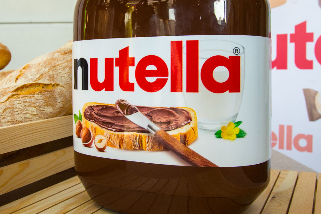 a jar of chocolate nutella